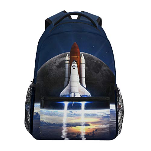 HappyCAT Space Rocket Spaceship Backpack for Boys for Girls NASA Science Aesthetic Alternative Backpack School Bookbag Bag Casual Multipurpose Business Laptop Backpack 5020989