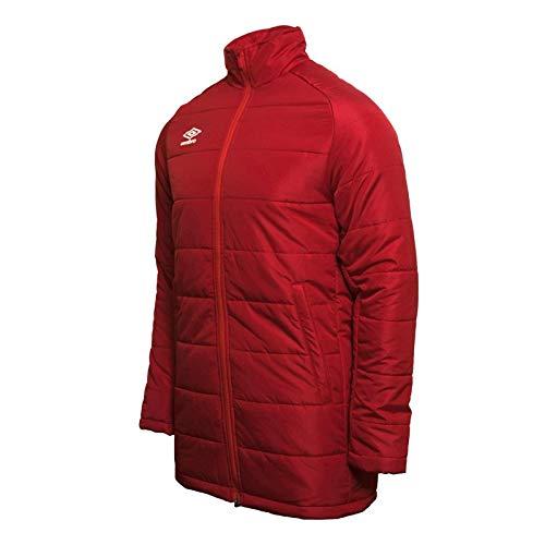 UMBRO Padded Jacket Anorak De Entrenamiento, Hombre, Rojo vermellón, XL
