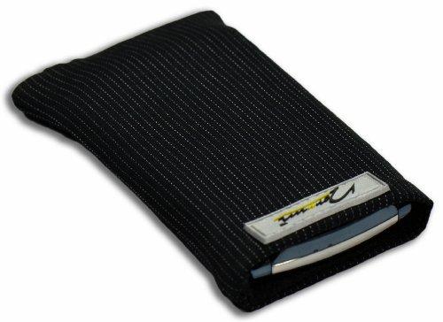 Norrun Handytasche / Handyhülle # Modell Abbo # ersetzt die Handy-Tasche von Hersteller / Modell Benq-Siemens SX1 # maßgeschneidert # mit einseitig eingenähtem Strahlenschutz gegen Elektro-Smog # Mikrofasereinlage # Made in Germany