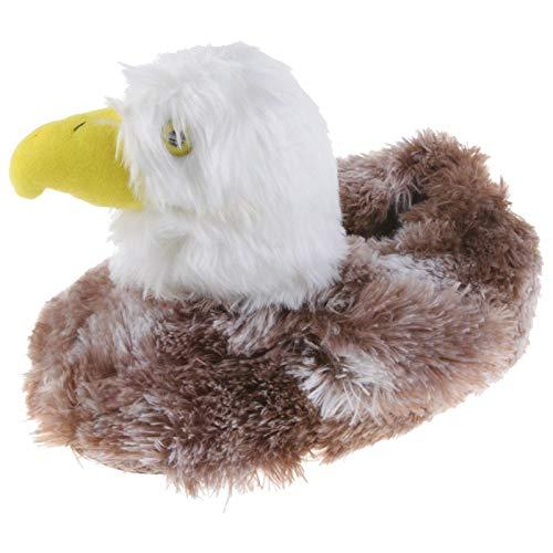 Tierhausschuhe Unisex Hausschuhe Weißkopfseeadler, Braun, 42/43, TH-Adler
