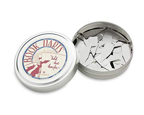 Book Darts -Lesezeichen Box Edelstahl - Silver 50 St, Made in USA