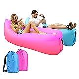 GYAM Tumbona Inflable, 2 Piezas De Sofá De Aire Plegable Tumbona De Aire Impermeable Protable con Bolsa De Almacenamiento para Viajar Camping Piscina Y Playa