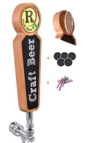 Grote houten Krijtbord Tap Handgrepen voor Kegerator Bar Restaurant Brouwerij Craft Bier Tap Handvat Label Display voor Alle Beer-Lovers (Light)