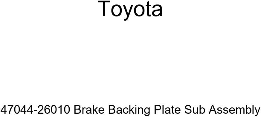 TOYOTA Genuine low-pricing 47044-26010 Brake Backing Plate Bargain sale Assembly Sub