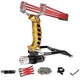 YYSM Slingshots,Wrist Sling Rocket Professional Hunting Slingshot...