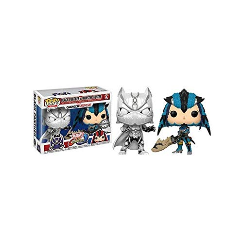 Funko 22788 Pop! Vinyl Games: Marvel VS Capcom Black Panther VS Monster Hunter Exclusivo