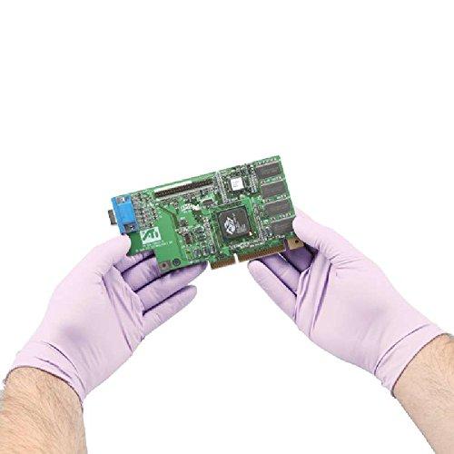 "Halyard Lavender Nitrile Exam Gloves (52816), Thin Mil, 2.8 Mil, Ambidextrous, 9.5"", XS, 250 / Box"