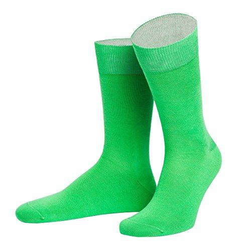 von Jungfeld - Herren Socken/Strumpf Herrensocken Baumwolle 1 Paar 45-47 grün