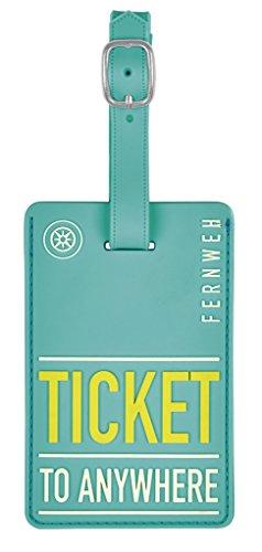 moses. Fernweh Kofferanhänger - ticket to anywhere Gepäckanhänger, 11 cm, Mehrfarbig