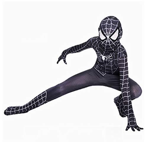Disfraz De Spiderman Disfraz Para Niños Vestido De Acción Ups Y Accesorios Fiesta Cosplay Disfraz De Spiderman Para Niños Disfraces,Black-160cm