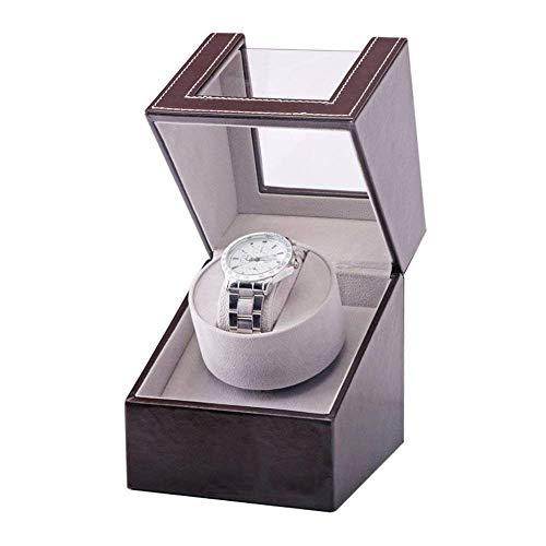 ZCYXQR Devanadera automática del Reloj, Mini Caja de presentación del Tenedor del Rotor del Motor de los Relojes del Negro de la coctelera del Motor