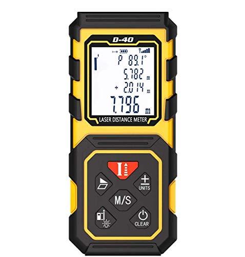Telemetro Laser Distanziometro Misura Laser 40M / 131Ft Strumento di Misurazione del Nastro Digitale Dispositivo di Misurazione con Sensore di Angolo Elettronico Aggiornato,40M