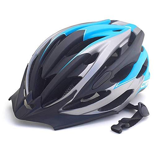 LTH-GD Unisex Fahrradhelm, CE-Zertifiziert Fahrradhelm mit Sonnenblende/Ultra-Light Removable feinjustierbaren Fahrradhelm for Männer/Frauen/Straße/Berg, Blau robust und Ultraleicht
