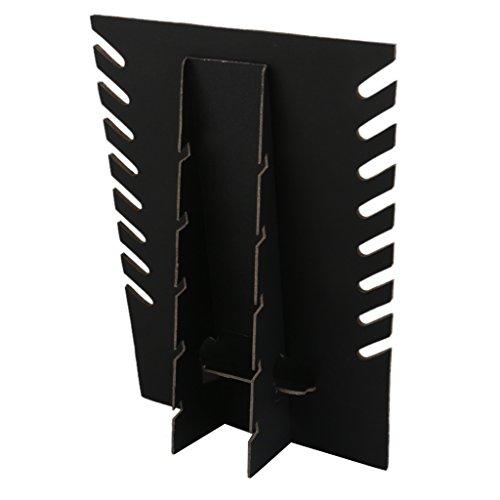 Soporte de almacenamiento expositor de joyas vitrina de collares en color negro