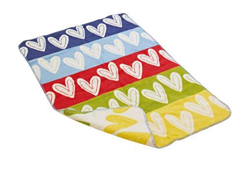 Richter Textilien 41815 2076 Decke Herzlein, bunt 75x100 cm
