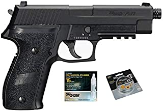 SIG Sauer P226 Air Pistol with CO2 12 Gram (15 Pack) and 500 Lead Pellets Bundle