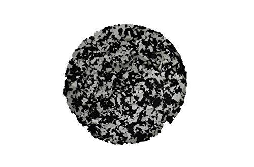 Dekochips Schwarz/Weiß 500g(matt) Farbflocken