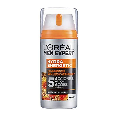 L\'Oréal Men Expert, Crema Hidratante Anti-Fatiga 24h Hydra Energetic, Para Hombres, Crema Facial de Uso Diario, Aporta Energía, Combate los Signos de Fatiga, 100 ml