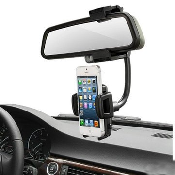 Price comparison product image Automobile Telephone - Degree Car Rear View Mount Holder Stand Cradle Cell Phone - Railway Set Gondola Ring Machine Headphone Motorcar Call Cable Sound Elevator Railcar - 1PCs
