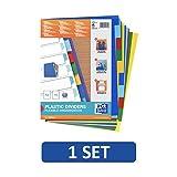 Elba 100205063 - Separador de polipropileno de 10 piezas, colores surtidos, una unidad