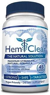 HemClear for Hemorrhoids - Vegan, 100% Natural Formula for Hemorrhoid Relief & Vascular Health - Maximum Strength 1 Bottle