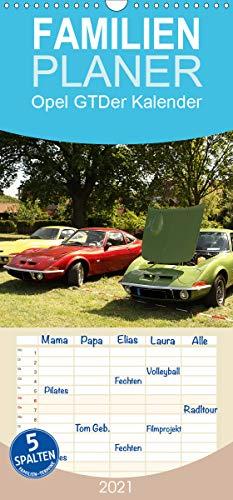 Opel GT Der Kalender - Familienplaner hoch (Wandkalender 2021, 21 cm x 45 cm, hoch)