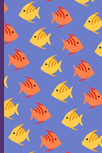 Fishy Pattern Notebook: Fun Fish Repeating Design Small Lined Notebook