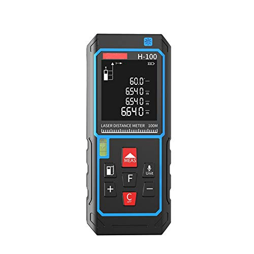 GU YONG TAO Telemetro Intelligente a infrarossi ad Alta precisione, Trasmissione vocale, Impermeabile e antigoccia, Adatto per: misurare Distanza, Area, Volume e così Via.