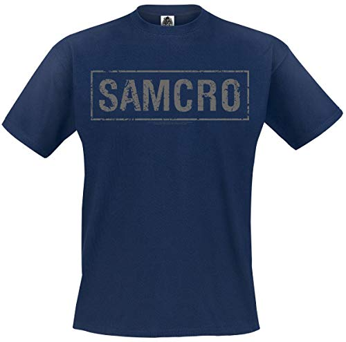 Sons of Anarchy Samcro Homme T-Shirt Manches Courtes Marine S, 100% Coton, Regular/Coupe Standard