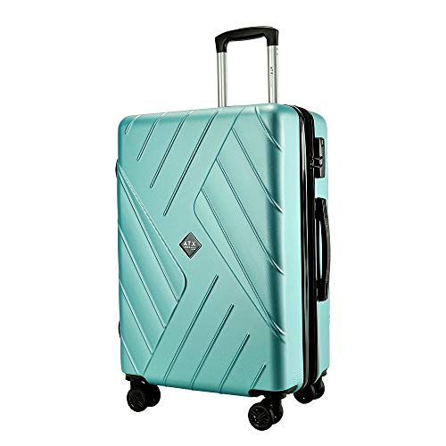 ATX Luggage 29' Large Super Lightweight Durable Expandable Hard Shell ABS Hold Suitcases Trolley Case Hold Check in Travel Bags with 8 Wheels & Built-in Lock (29' Large, Mint)