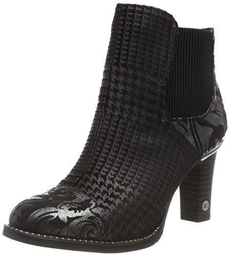 MUSTANG Damen 1335-503-921 Chelsea Boots, Schwarz (Schwarz/Silber 921), 40 EU