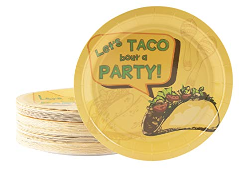 Cinco De Mayo Plates, Let's Taco Bout a Party (9 in., 80 Pack)
