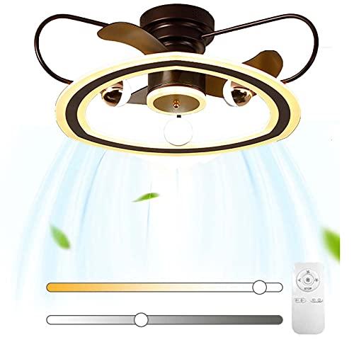 LED Ventilador de Techo con Luz y 4G Control Remoto Interruptor Inteligente Regulable Silencioso Dormitorio Ventilador Lámpara de Plafones 6 Velocidades con Temporizador para Habitaciones Niños VOMI