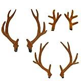 Diadema un par de cornamentas de simulación marrón venda bandada sika ciervos accesorios DIY día de Navidad accesorios de ropa material suministros de fiesta accesorios de fotografía para niños