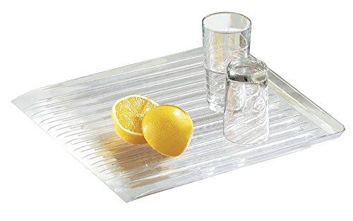 mDesign afdruiprek, vaatwasser-afdruipmand voor gootsteen – potten, pannen en schalen drogen in een handomdraai – transparant