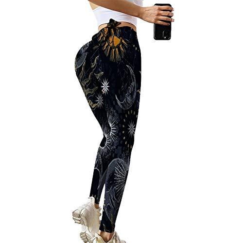 NAQUSHA Las mujeres levantamiento de glúteos Scrunch impresión cintura alta control de barriga estiramiento Strethcy suave gimnasio polainas yoga pantalones corriendo medias
