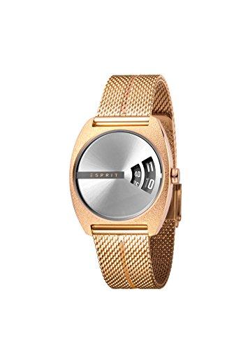 Esprit Damen Analog Quarz Uhr mit Edelstahl Armband ES1L036M0115