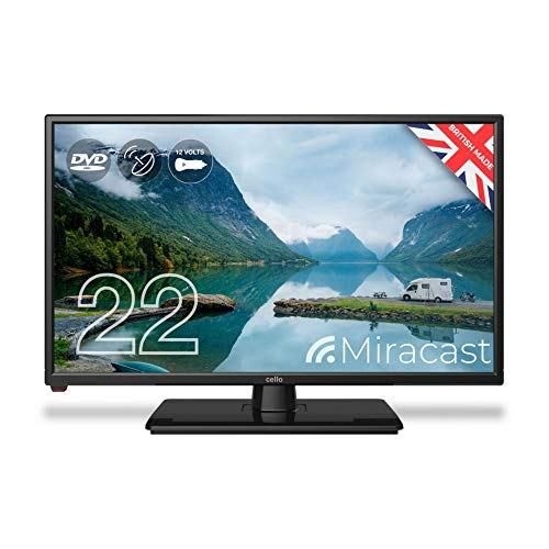 Cello C2220FMTR 12v/240v 22' Traveller Caravan TV Freeview HD DVD & Miracast