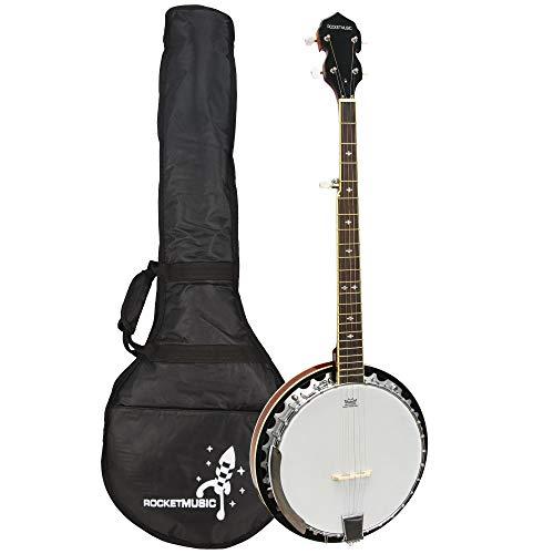 Rocket BJM01 - Banjo de 5 cuerdas, color marrón