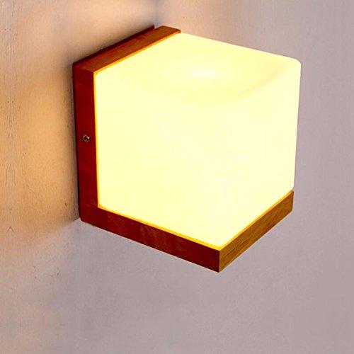 ZPSPZ Applique Murale Le Mur A Chaud Chambre Lampe De Chevet Simple New Style Chinois Jardin En Bois