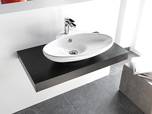 Lavabo design support extérieur 3 en céramique 63 x 47 x 13 cm