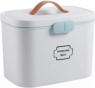 Household Medicine Box First Aid Kit Medicine Storage Box Medical Box Two-Layer Medicine Chest Multicolor Optional MJZDD (Color : White)