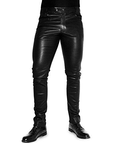 Bockle Stretch Leather Jeans Lederjeans Lederhose 1991 Super-Stretch Tube Skinny Röhre Lamm Leder Leggins, Size: W38/L36
