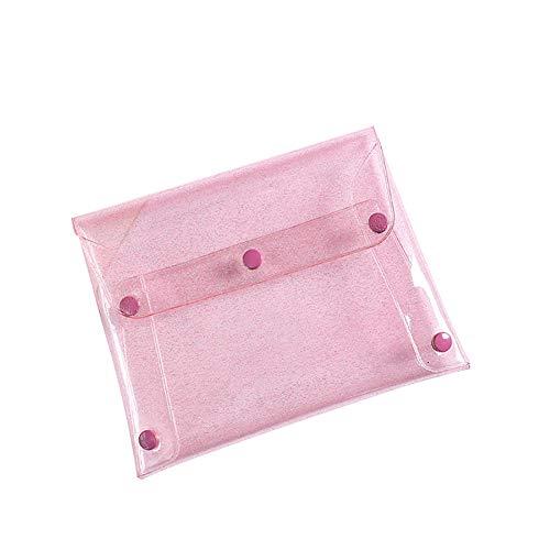 MoGist Trousse de Toilette Sac de Rangement Imperméable Sac de Voyage Maquillage Translucide Sac à Main PU Rose 18cm*14cm