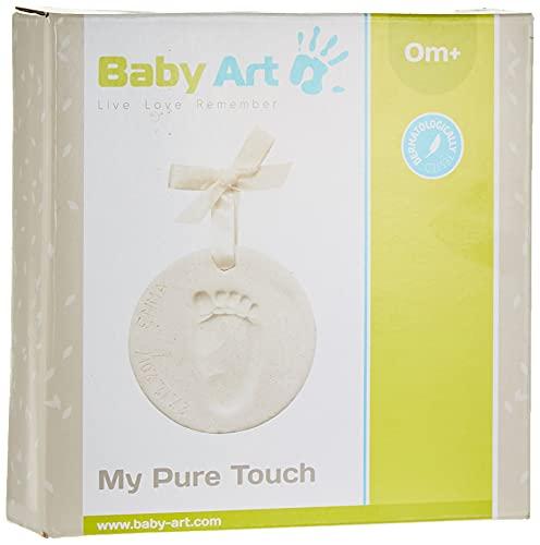 Baby Art My Pure Touch - Shiny Vibes, Handabdruck Fußabdruck Ornament, schöner Gipsabdruck für Ihr Baby zum Selbermachen und Aufhängen, mit Glitter, mehrfarbig