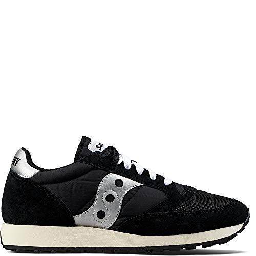 Saucony Jazz Original Vintage, Sneaker Unisex – Adulto, Nero (Black/White 10), 45 EU