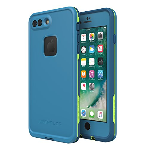 Lifeproof FRĒ SERIES Waterproof Case for iPhone 8 PLUS & 7 PLUS (ONLY) - Retail Packaging - BANZAI (COWABUNGA/WAVE CRASH/LONGBOARD)