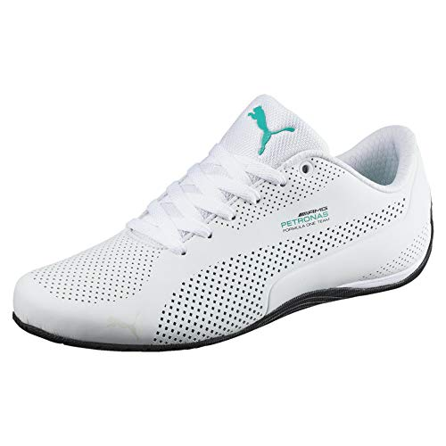 PUMA Mercedes AMG Petronas Drift Cat Ultra Sneaker Puma White-Spectra Green-Blk UK 11_Adults_FR 46