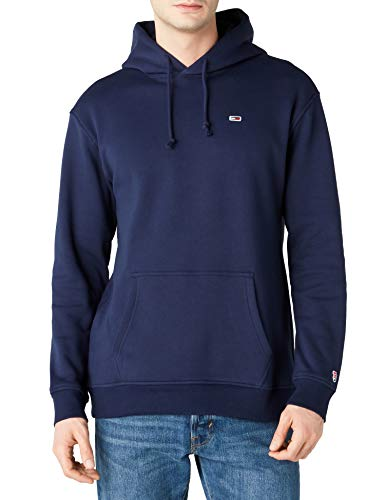 Tommy Jeans Herren Hoodie Relaxed Fit Classics Collection Sweatshirt, Blau (Black Iris 002), X-Large