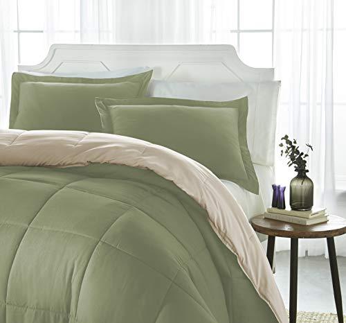 ienjoy Home Collection Down Alternative Reversible Comforter Set - Queen - Sage